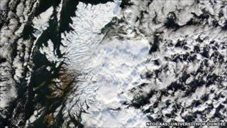 Satellite image of Scotland. Pic: 'NEODAAS/University of Dundee
