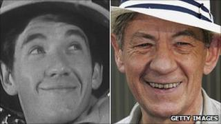 Sir Ian McKellen in 1964 (left) and in 2006