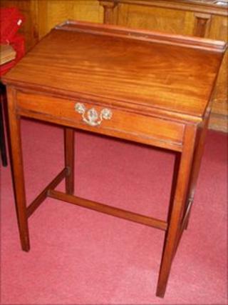 Charlotte Bronte's writing desk