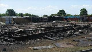 Allotments destroyed by fire