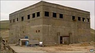 Undated photo released by CIA of alleged nuclear reactor under construction in eastern Syria