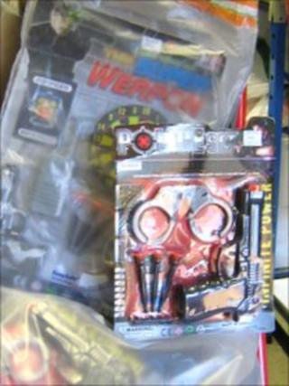 Some of the toys found by trading standards