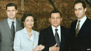 The Mubarak family