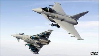 RAF Eurofighter Typhoons