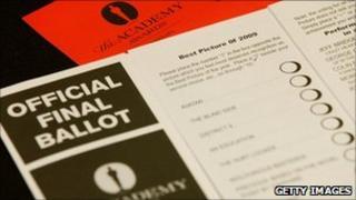 Oscar ballot