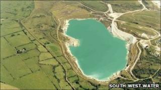 Stannon Reservoir in Cornwall
