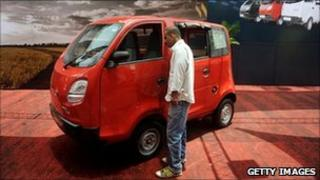 "Tata Motors' ""Magic Iris"" miniature people carrier"