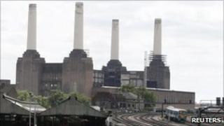 Railway by Battersea power station
