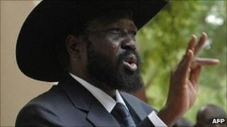 Salva Kiir speaking on 26 May 2011 in Juba