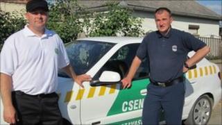 """""""Gendarmes"""" working for the mayor in Tiszavasvari, Hungary"""