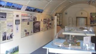 The museum has been created inside two Nissen huts on the site