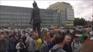 Sheffield United protest at Bramall Lane