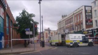The alert is causing disruption in Londonderry city centre