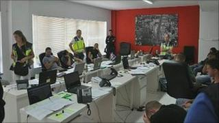 Spanish police still of alleged scam phone room