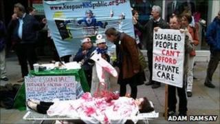 Anti health bill campaigners