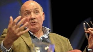 Lord Dannatt, the former Chief of the General Staff, speaks at the Hay Festival in Hay-on-Wye, Powys