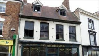 Fire damaged Longfellow's in Horncastle
