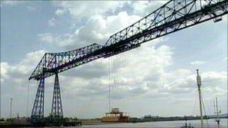 The Transporter Bridge in Middlesbrough