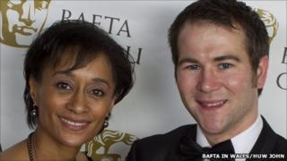 Best Actor Stuart Brennan with Suzanne Packer