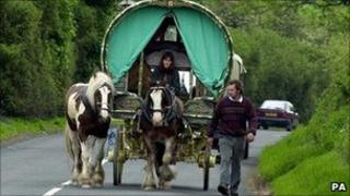 Caravan on way to Appleby Horse Fair