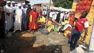 Aftermath of bomb blasts in Bauchi (30 May 2011)