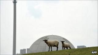 Nuclear power plant Unterweser in Esenshamm, western Germany, 30 May 2011.