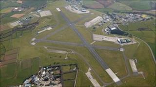 RNAS Culdrose from the air
