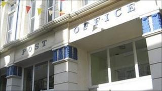 Former post office at Nelson Place, St Peter Port, Guernsey