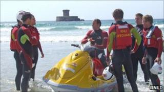 RNLI Lifeguards in Jersey