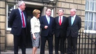 The leaders outside Bute House