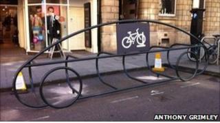 Bike racks in Bath