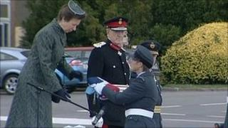 Princess Anne at RAF Lyneham