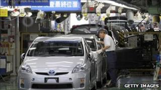Toyota factory in Japan