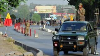 Pakistani security forces in the north-west of the country