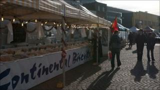 French market in Weighbridge Place