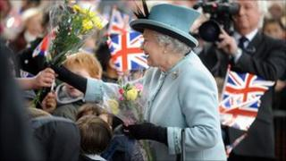 The Queen visits Derby