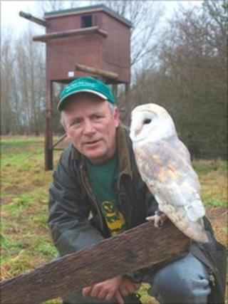 Vincent Jones from Gloucester's Barn Owl Centre