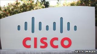 Cisco logo at headquarters