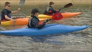 Scouts at Testwood Lakes