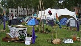 Tent on Parliament Square