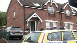 The man was shot and injured at a house in Mayfield Court