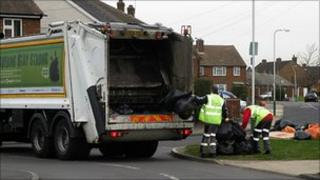 Bin collection in Essex