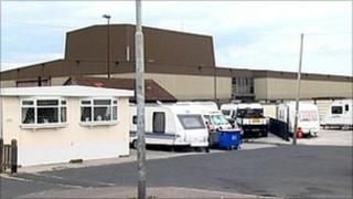 Mary Street caravan park and waste treatment plant