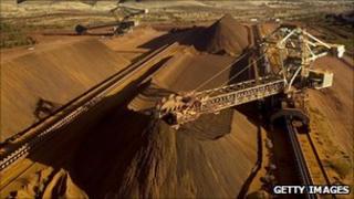 Rio's iron ore mine
