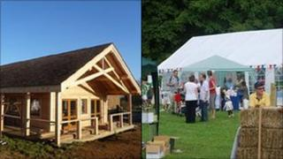 Balscote village hall and marquee