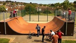 Skate ramp at Kingsteignton