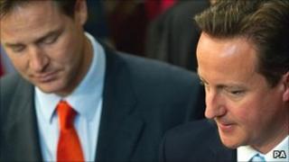 Deputy Prime Minister Nick Clegg, Primer Minister David Cameron