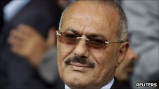 Yemen's President Ali Abdullah Saleh in Sanaa - 20 May 2011