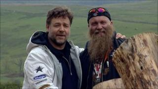 Russell Crowe with Charlie Allan