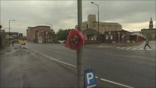 Scene of fatal crash in Bolton